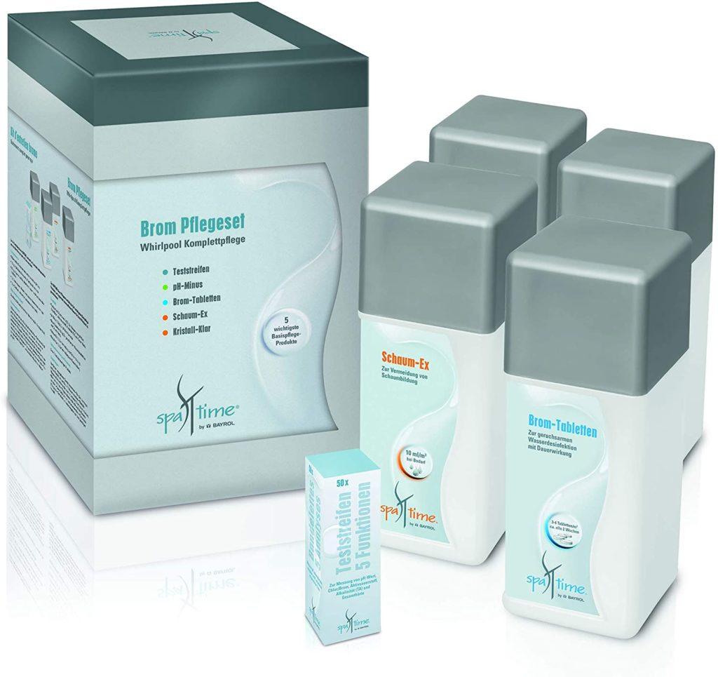 Pack de produit Bayrol spa avec brome
